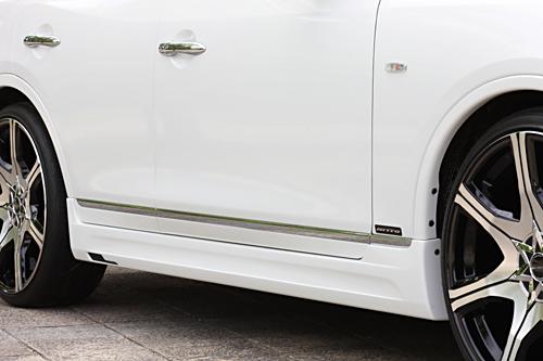 スカイライン クロスオーバー J50 サイドステップ 塗装済 ゼウス ラヴライン