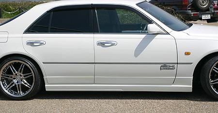 シーマ Y33 サイドステップ&ドアパネル 塗装済 ランドリュウLUX 乱人