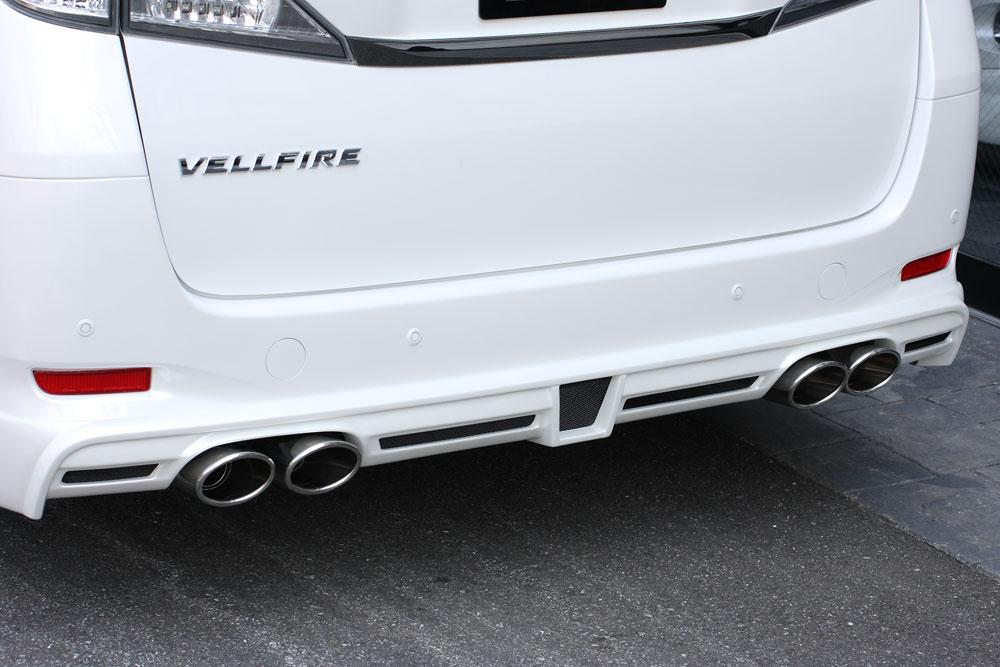 ヴェルファイア GGH・ANH・ATH V.X / HYBRID V.X MC後 エキゾーストシステム 左右4本出し(2400 2WD/4WD) ゼウス GRACE LINE/グレースライン