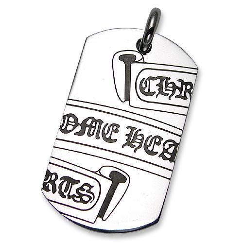 【CHROME HEARTS クロムハーツ Dog Tag ドッグタグ ペンダント】セグメンティッドスクロール/NYCバックドッグタグ【ニューヨーク限定】【送料無料】