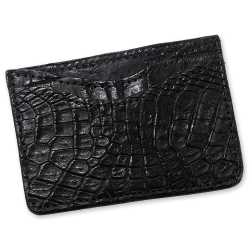 【Greg Everett Original グレッグエバレットオリジナル Card Wallet カードケース】カードウォレット/ダブルスリーブ/アリゲーター/ブラック【送料無料】