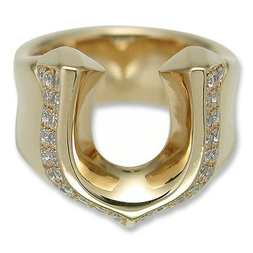 【KING LIMO キングリモ Ring リング】ハイローラーリング/18Kゴールドコーティングw/パヴェCZ【送料無料】