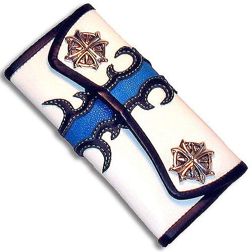 【在庫処分大特価!!】 ONE TOO TOO MANY(ワントゥーメニー):3 ONE Fold Wallet/Blue Wallet/Blue Flame(3ホールドウォレット/ブルーフレイム), サイバーボックス:dd6cee06 --- mail.analogbeats.com