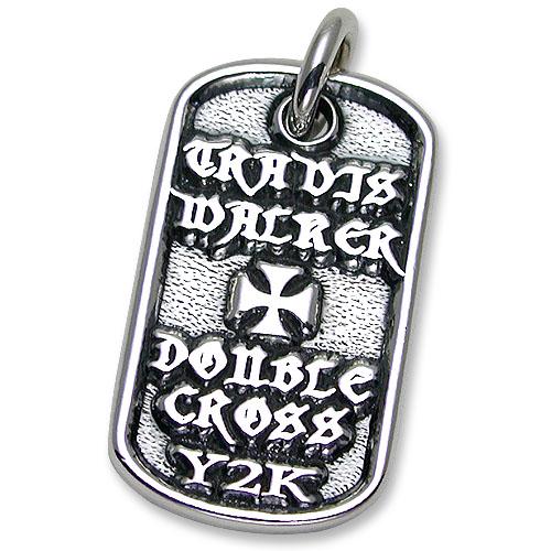 【TRAVIS WALKER DOUBLE CROSS トラヴィスワーカー ダブルクロス ドッグタグ】マリブクロスドッグタグ【送料無料】