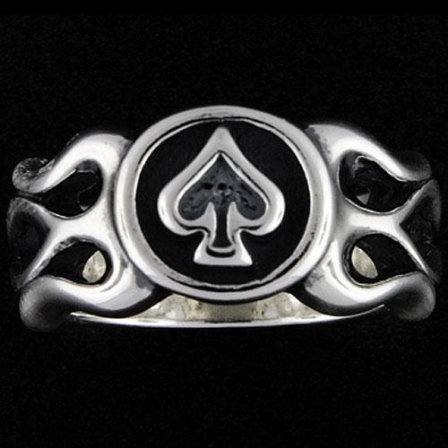 【TRAVIS WALKER DOUBLE CROSS トラヴィスワーカー ダブルクロス Ring リング】フレイムドスペードリング【送料無料】