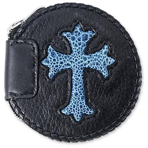 VAN AMBURG LEATHERS(ヴァンアンバーグレザーズ):Coin Purse/Cowhide w/Cross Inlay(コインパース/カウハイドw/クロスインレイ)