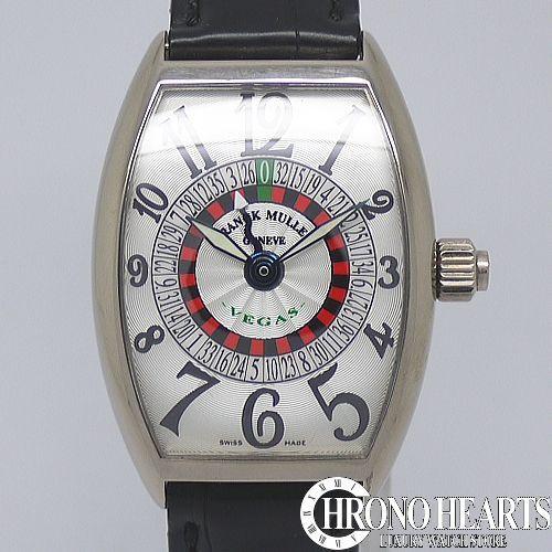 フランクミュラー【FRANCK MULLER】ヴェガス K18WG[5850VEGAS] 【中古】【腕時計】【送料無料】