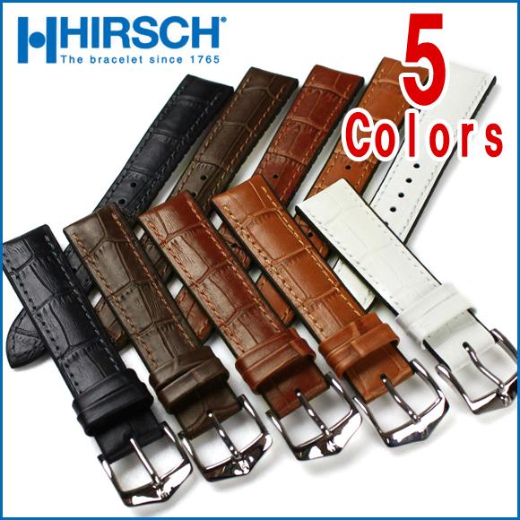 バネ棒付き 時計 ベルト 腕時計 HIRSCH ヒルシュ PAUL ポール レザー革 18mm 20mm 22mm 24mm ブラック ブラウン ホワイト