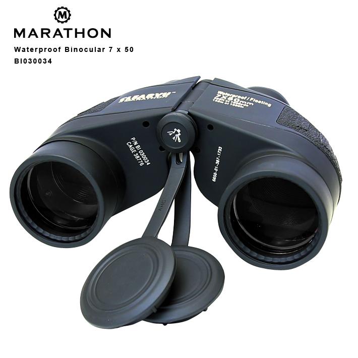 ◎双眼鏡アウトドア アメリカ軍 ミリタリー品 MARATHON Waterproof Binocular 7x50 BI030034