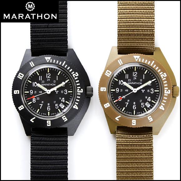 時計 腕時計 ミリタリーウォッチ アメリカ軍 MARATHON Navigator Date Sterile Pilot マラソン ナビゲーター デイト ステライル パイロット クォーツ WW194013NGM ファイバーグラス