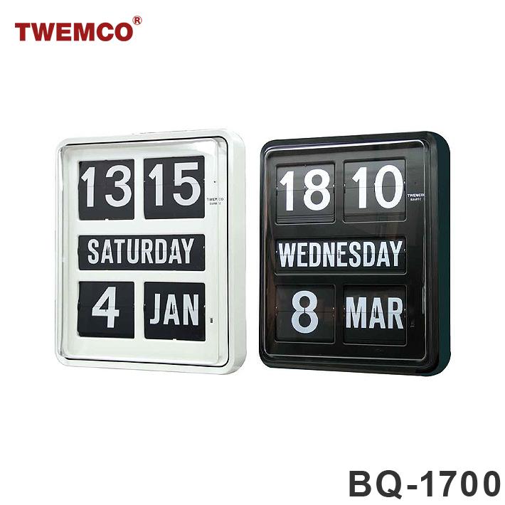 【お取寄せ品】【納期2~3ヶ月】TWEMCO トゥエンコ BQ-1700 インテリアクロック ブ ラック ホワイト 置き時計 置時計 掛け時計 掛時計