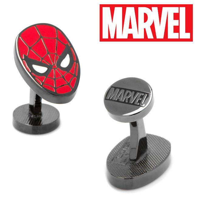 アクセサリー カフス カフリンクス カフスボタン Various Licensed Spider-Man Cufflinks スパイダーマン アベンジャーズ マーベル ピーター パーカー スパイディー マスク MV-SPDM-BK