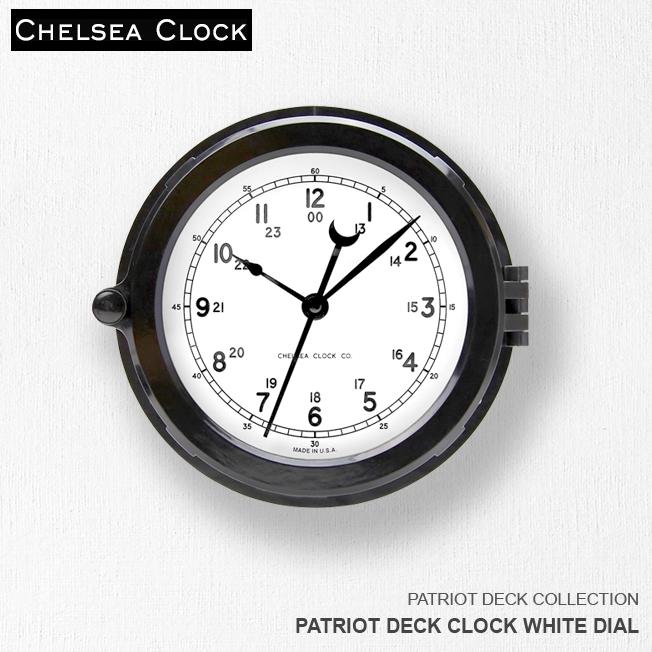 時計 壁掛け時計 置き時計 ホーム リビング アメリカ CHELSEA CLOCK チェルシー・クロック PATRIOT DECK CLOCK WHITE DIAL デッキクロック ホワイトダイアル