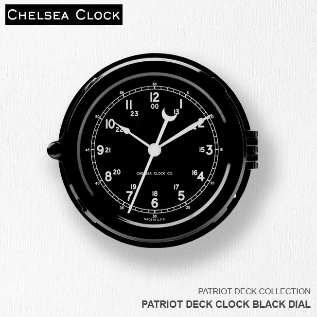 時計 壁掛け時計 置き時計 ホーム リビング アメリカ CHELSEA CLOCK チェルシー・クロック PATRIOT DECK CLOCK BLACK DIAL デッキクロック ブラックダイアル