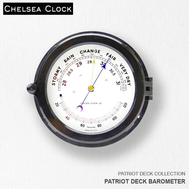 時計 壁掛け時計 置き時計ホーム リビング アメリカ CHELSEA CLOCK チェルシー・クロック PATRIOT DECK BAROMETER バロメーター 温度計気圧計
