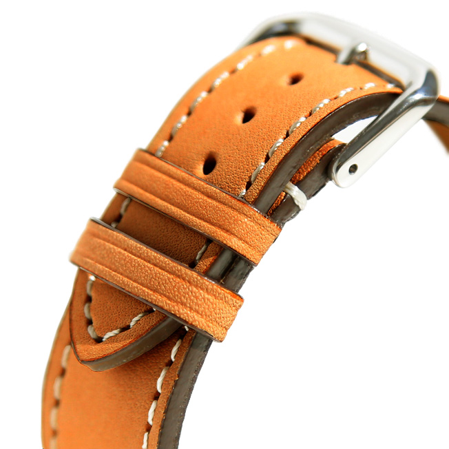 buy popular ed205 2c249 バネ棒付き 時計 ベルト 腕時計 バンド HDT DESIGN Natural Calf ヌメ革 レザー 革 ベルト 18mm 20mm 22mm  ベージュ ブラウン|時計ベルトの専門店クロノワールド