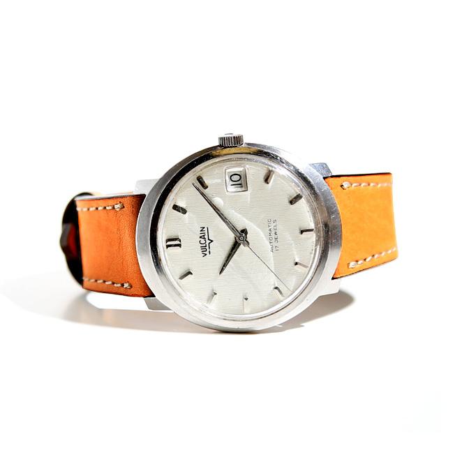バネ棒付き 時計 ベルト 腕時計 バンド HDT DESIGN Natural Calf ヌメ革 レザー 革 ベルト 18mm 20mm 22mm ベージュ ブラウン