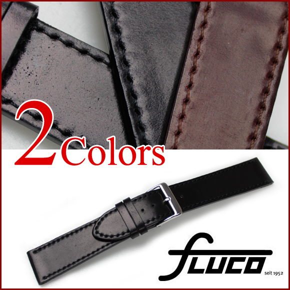 ◆ for Cho FLUCO ◆ Horween Shell Cordovan Horween shell cordovan flat watch for and and watch belt watch band 18 mm20mm