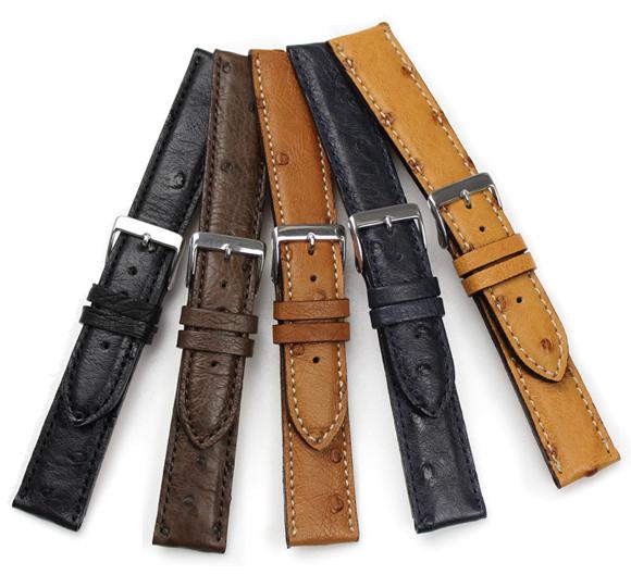 FLUCO Echt Strauss Leather Watch Strap