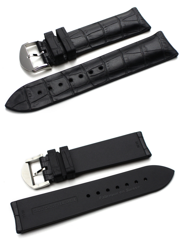 ◆ BIWI buy Alligator Skan alligator scan fully water resistant kauchuk, rubber belt 18 mm20mm 21 mm22mm made in Switzerland for watches, watch band belt