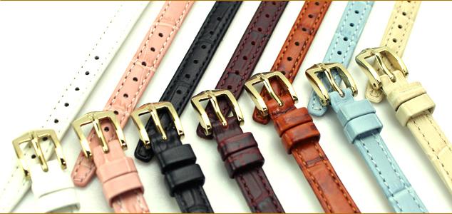 Watch belt ◆ HIRSCH Duke Hirsch Duke alligator type press leather watch, belt watch, watch band 10 mm 12 mm14mm