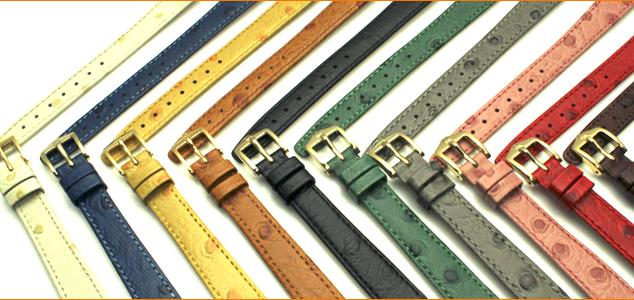 HIRSCH ヒルシュ オーストリッチグレイン カーフ 型押し 腕時計用・時計ベルト・時計バンド 10mm12mm14mm【レディース】【革・レザー】