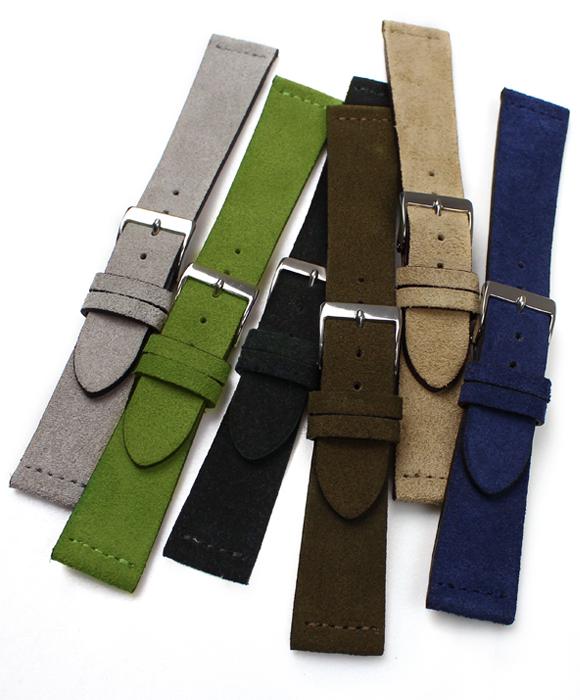 ◆ 후르 트 FLUCO ◆ Suede 스웨이드 시계 용 ・ 시계 벨트 시계 밴드 20mm