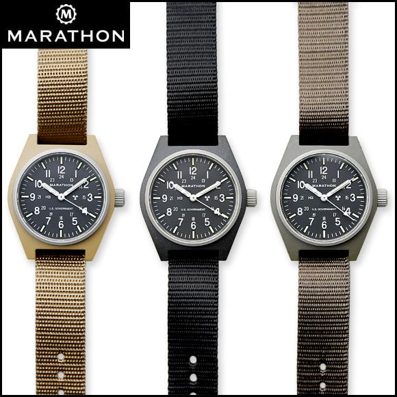 時計 腕時計 ミリタリーウォッチ アメリカ軍 MARATHON General Purpose Field Watch Mechanical マラソン ジェネラルパーパス フィールドウォッチ メカニカル 自動巻き オートマチック 手巻き 機械式 WW194003 ファイバーグラス【P10】