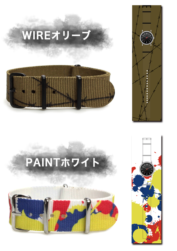 Watch belt ◆ GRAPHIC NATO graphics NATO type, nylon straps for watches and watch belt watch band 20 mm