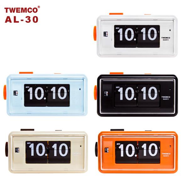 置き時計 置時計 掛け時計 掛時計 TWEMCO トゥエンコ AL-30 インテリアクロック ブラック ホワイト ブルー オレンジ ベージュ
