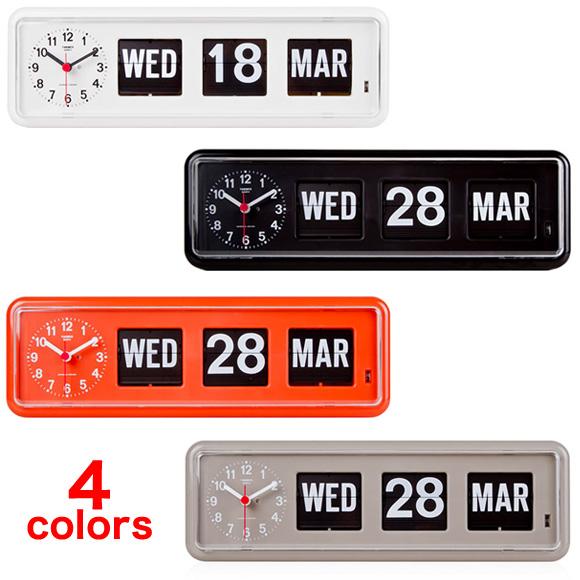 置き時計 置時計 掛け時計 掛時計 TWEMCO トゥエンコ BQ-38 インテリアクロック ブラック グレー オレンジ ホワイト