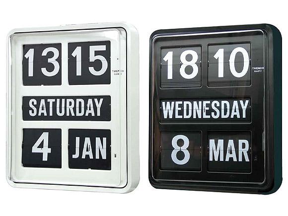 【お取寄せ】【納期2~3ヶ月】 置き時計 置時計 掛け時計 掛時計 TWEMCO トゥエンコ BQ-1700 インテリアクロック ブラック ホワイト
