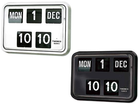 【お取寄せ】【納期2~3ヶ月】 置き時計 置時計 掛け時計 掛時計 TWEMCO トゥエンコ BQ-17 インテリアクロック ブラック ホワイト