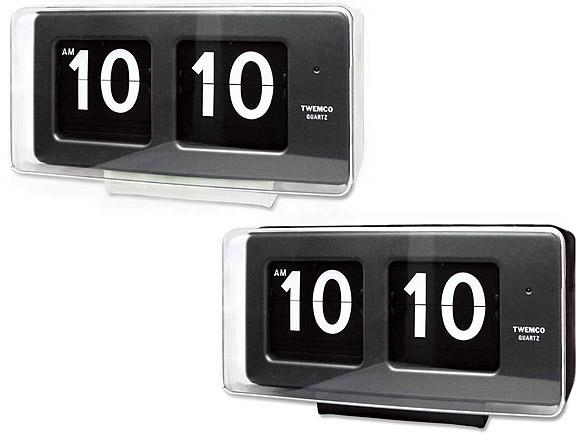 置き時計 置時計 掛け時計 掛時計 TWEMCO トゥエンコ BQ-50 インテリアクロック ブラック ホワイト【P10】