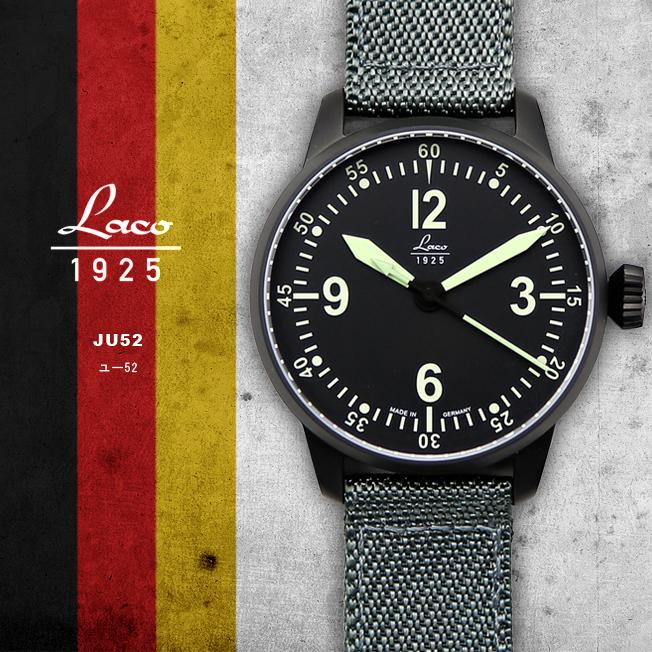 【お取り寄せ】時計 腕時計 ミリタリーウォッチ ドイツ LACO ラコ 861907 BELL-X-1 ベルエックスワン 自動巻き オートマチック オリジナルストラップ付き