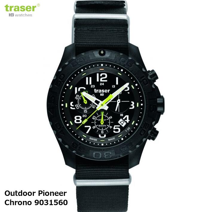 【お取寄せ】 時計 腕時計 ミリタリーウォッチ TRASER Outdoor Pioneer Chrono 9031560