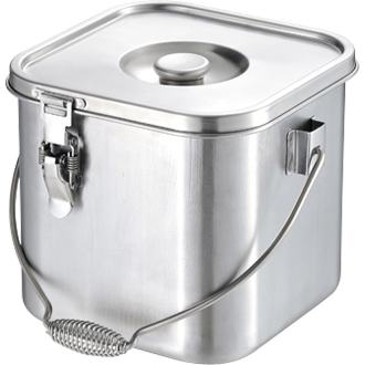 仔犬印 19-0 IH対応角型給食缶 30cm