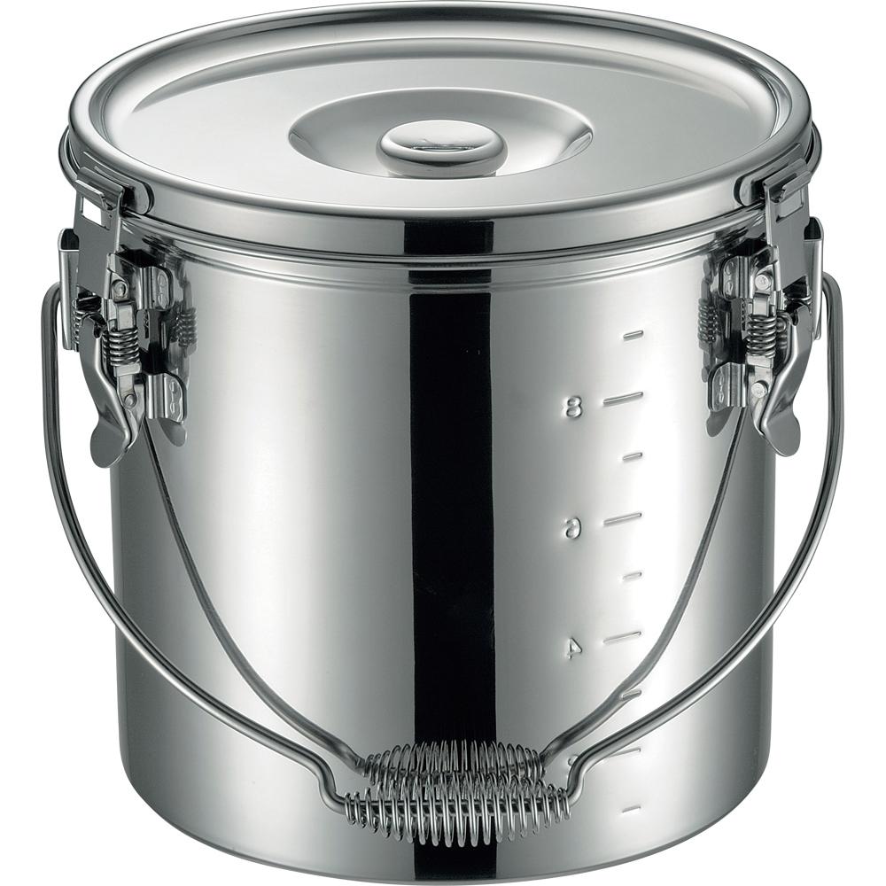 仔犬印 19-0 IH対応スタッキング給食缶 24cm 10.0L 保温 食缶
