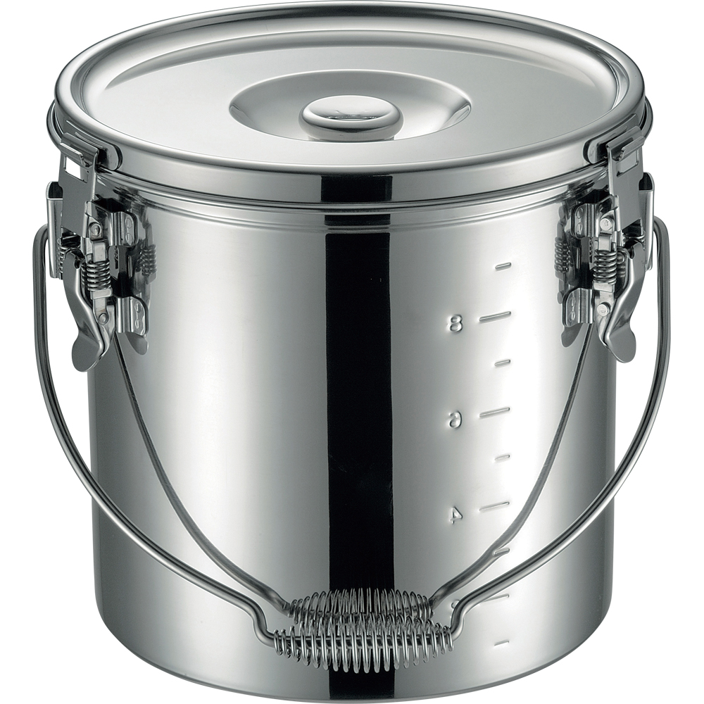仔犬印 19-0 IH対応スタッキング給食缶 27cm 15.0L 保温 食缶