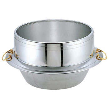 炊飯はもちろん 新品未使用 イベントや急な炊き出しにも キング セールSALE%OFF アルミ大釜 かん付 あす楽対応 33cm