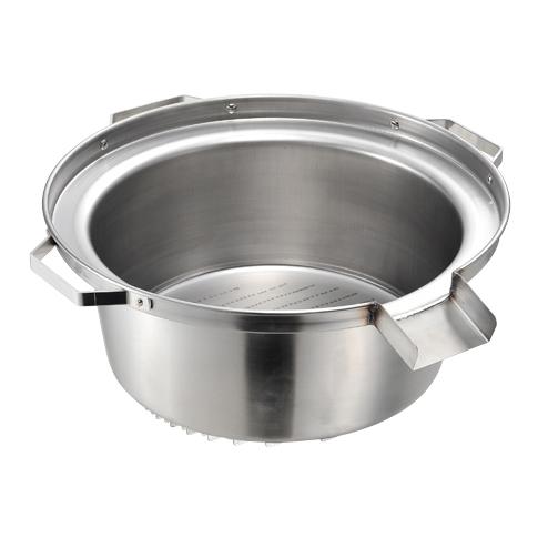 エコライン ステン業務用ゆで麺鍋51cm蓋なし