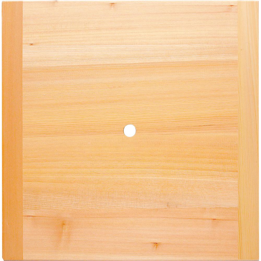 木製角せいろ用スリ蓋(台)穴明 36cm用