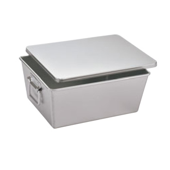 アルマイト 深型 パン箱 20人用(蓋付)260-B【給食】【食缶】