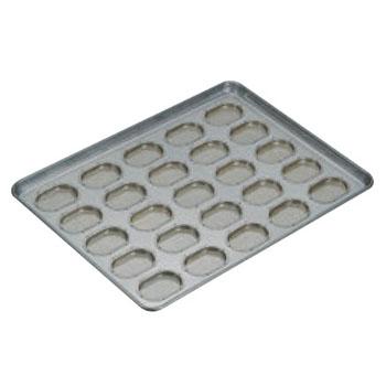 シリコン加工 ダックワーズ型 天板(25ヶ取)【業務用】【オーブン天板】