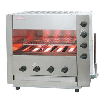 赤外線同時両面焼グリラー(下火バーナー固定)武蔵 SGR-44 LP【代引き不可】【業務用】【焼物器】【魚焼き器】