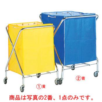 BM ダストカー 袋付(折りたたみ式)小 青 132L【代引き不可】【ダストカート】【ボールカゴ】【ボール入れ】