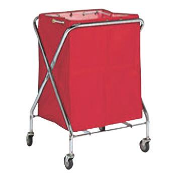 BM ダストカー 袋付(折りたたみ式)小 赤 132L【代引き不可】【ダストカート】【ボールカゴ】【ボール入れ】