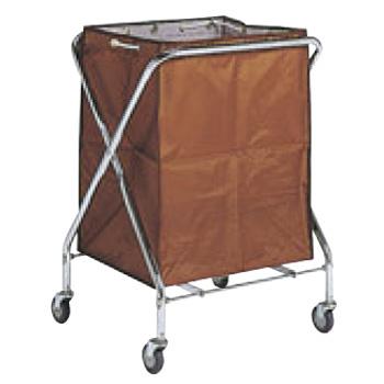 BM ダストカー 袋付(折りたたみ式)小 茶 132L【代引き不可】【ダストカート】【ボールカゴ】【ボール入れ】