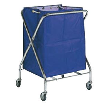 BM ダストカー 袋付(折りたたみ式)小 紺 132L【代引き不可】【ダストカート】【ボールカゴ】【ボール入れ】