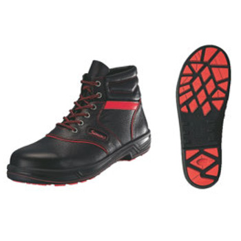 安全靴 シモンライト SL22-R 黒/赤 25.5cm【セーフティーシューズ】【安全靴】【業務用靴】
